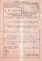 BRUXELLES /  PALERMO -   Ticket _ Biglietto   - 1960 - Treni