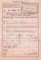 PALERMO / BRUXELLES  -   Ticket _ Biglietto   - 1960 - Treni