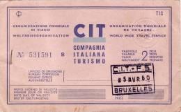 BRUXELLES /  MILANO / BRUXELLES  -  Ticket _ Biglietto   - 1960 - Treni