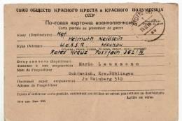 7034 PRISONER POW SOVIET CAMP CCCP TO STUTTGART GERMANY WITH TEXT