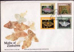 1986 Zimbabwe, F.D.C. Farfalle, Serie Completa - Zimbabwe (1980-...)