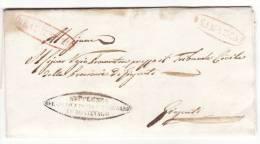 """MONTEVAGO / GIRGENTI - 1.3.1842 _ Ovale """" SUPPL. DEL GIUD. DEL CIRCON. DI MONTEV.  + SAMBUCA + REAL SERVIZIO + Altro """" - Italia"""