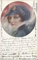 4746 - Femme à Casquette Par G.P. Restellini - Autres Illustrateurs