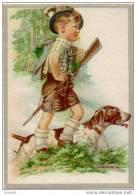 Chasse Fusil Enfant Chase Kunstverlag Holzer Hambourg N°1003/3 1950 état Superbe - Holzer, Adi
