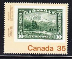 Canada MNH Scott #912 35c  No. 155 Mount Hurd Stamp On Stamp - Canada 82 International Youth Exhibition - 1952-.... Règne D'Elizabeth II