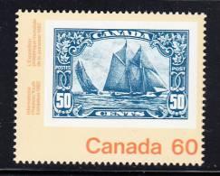 Canada MNH Scott #913 60c  No. 158 Bluenose Stamp On Stamp - Canada 82 International Youth Exhibition - 1952-.... Règne D'Elizabeth II