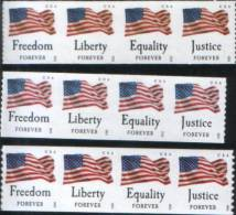 2012 Flags Coil Self Adhesive Stamps - United States