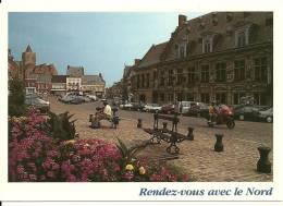 CPSM De CASSEL (59670) : La Grand'Place De Cassel. - Cassel