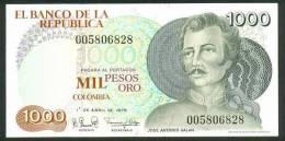 COLOMBIA , 1000 PESOS ORO 1.4.1979. , P-421 , UNC - Colombie