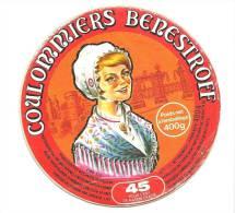 Ancienne Etiquette Fromage  Coulommiers Benestroff 45%mg  Fabriqué En Lorraine   Fromagerie De Benestroff Moselle - Fromage