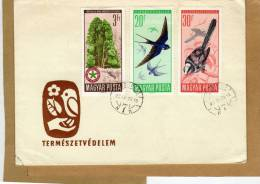 Enveloppe Cover Brief Recommandé Budapest Hongrie Oiseaux à Bruxelles Belgie  - 2 Scans - Oiseaux