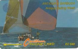 Antigua, ANT-7C, Sailing Week, Ship, Sport, 2 Scans.   7CATC . - Antigua And Barbuda