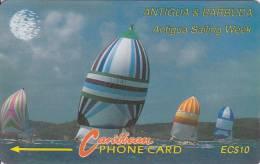 Antigua, ANT-11A, Sailing Week, Ship, Sport, 2 Scans.   11CATA . - Antigua And Barbuda