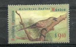 Oiseau Vacher à Ailes Baies (molothrus Badius) Oblitéré Haute Faciale. Yv. 1874.  Cote 15.00 € - Argentine