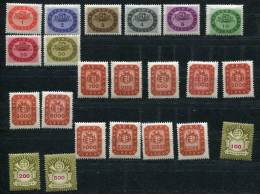 Hungary 1946 Mi  897-918 Sc 738-759 MH Arms And Post Horn - Nuovi