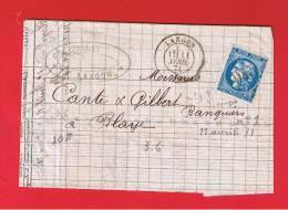 LETTRE DE LANGON  //  POUR BLAYE  //    //  11 AVRIL 1871 - 1849-1876: Classic Period