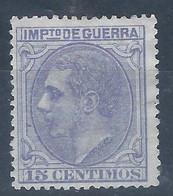 ESNE6-2694TCO.Espagne.Spain  .IMPUESTOS  DE GUERRA..ALFONSO Xll 1879.(Ed NE6) Sin GomaMAGNIFICO - Celebridades