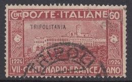 ITALY - TRIPOLITANIA N.30 Cat. 32 Euro - Firmato BIONDI - USED - LUXUS GESTEMPELT - Tripolitania