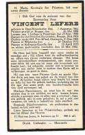 OOSTNIEUWKERKE - POPERINGE - WILSKERKE - ROLLEGEM-KAPELLE,doodsprentje Van PASTOOR Vincent LEFERE + 1932 - Documents Historiques