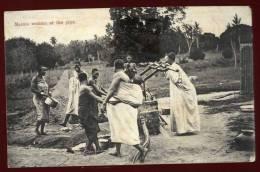 Cpa Zanzibar Masaia Women At The Pipe  RAM1  Tanzanie - Tanzanie