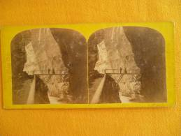 Photo Stereoscopique . ALPES - Gorge De Peafers N° 133 - Stereoscopic