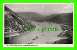 BLICK VOM SCHWEIZERHAUS INS RHEINTAL- BINGERLOCH - ANIMATED WITH SHIPS - TRAVEL IN 1952 - - Germany