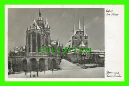 ERFURT, GERMANY - ERFURT IM SCHNEE - DOM UND SEVERIKIRCHE - STRAUB-FISHER - - Erfurt
