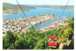 Norway - Norge - Bergen - Utsikt Fra Floyen - Train - Zug - Eisenbahn - Norwegen