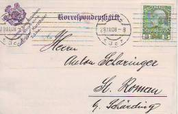 900p: Strohhut- Fabrik Linz, Alte Correspondenzkarte Aus 1908 - Textil
