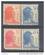 ES751-L1814TVF.España.Spain.Espagne.ALEGORIAS DE LA REPUBLICA.1938.  (Ed 751/4**)sin Charnela.MUY BONITA - Viñetas De Fantasía