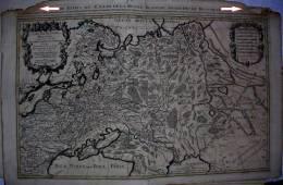 SUPERBE GRANDE CARTE  Par SANSON (Paris 1692 ) LA RUSSIE BLANCHE Ou MOSCOUVIE Sous La Domination Du Czar De La Russie - Cartes Géographiques