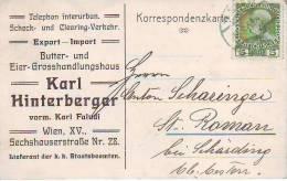 900u: Altösterreich, Butter Und Eier Export- Import. Vorder- U. Rückseite Beachten. - Agriculture