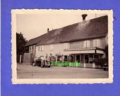 ANCIEN  PHOTO EBERSHEIM BAS RHIN VOSGES 1947 RESTAURANT CIGOGNES  RUE NATIONALE - Lieux
