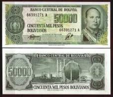 BOLIVIA 1984 - 50000 Pesos - Paper Money UNC - Bolivia