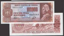 BOLIVIA P 171a, P171a, 1984 , 100000 BOLIVIANOS , UNC - Bolivia