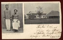 Cpa Du Dahomey Un Garde Civil Et Sa Femme , Résidence De Zagnanado  RAM2 - Dahomey