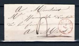 Voorloper/Précurseur 05/11/1841 Van/de COURTRAI Naar/vers MONS (GA958) - 1830-1849 (Belgique Indépendante)