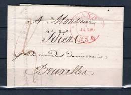 Voorloper/Précurseur 02/03/1836 Van/de GAND Naar/vers BRUXELLES (GA1026) - 1830-1849 (Belgique Indépendante)
