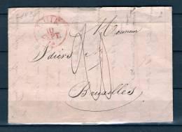 Voorloper/Précurseur 10/09/1829 Van/de LIEGE Naar/vers BRUXELLES (GA1048) - 1830-1849 (Belgique Indépendante)