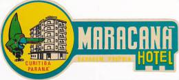 BRASIL CURITIBA MARACANA HOTEL VINTAGE LUGGAGE LABEL - Hotel Labels