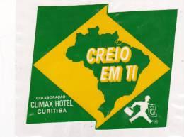 BRASIL CURITIBA CLIMAX HOTEL VINTAGE LUGGAGE LABEL - Hotel Labels