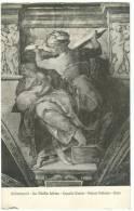 Michelangiolo, La Sibilla Libica, Cappella Sistina, Unused Postcard [11274] - Paintings