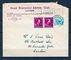 N° 724R Afgestempeld ANTWERPEN Naar LONDON 26/07/1946 (GA1231) - 1946 -10%