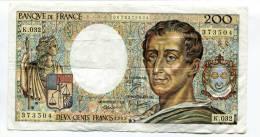 "P France 200 Francs """" MONTESQUIEU """" 1985 # 1 - 1962-1997 ''Francs''"