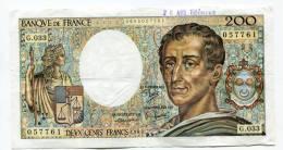"P France 200 Francs """" MONTESQUIEU """" 1985 # 2 - 1962-1997 ''Francs''"