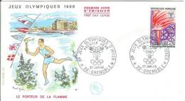 France 1968 FDC Winter Olympics Games Grenoble Sport - FDC