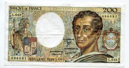 "P France 200 Francs """" MONTESQUIEU """" 1987 # 7 - 1962-1997 ''Francs''"