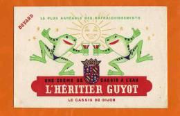 BUVARD : L'Heritier GUYOT Creme Cassis De Dijon  Grenouilles - Liquor & Beer