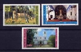 POLYNESIE - N° 243/245** - EDIFICES RELIGIEUX EN POLYNESIE - Non Classificati
