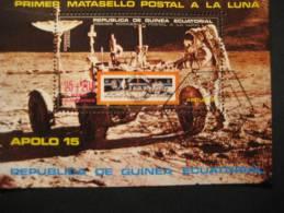 GUINEA ECUATORIAL 1971 Apollo 15 Moon Space Spatial Cosmos Astronomy Rocket Satellite Satelite Luna Espacio Astronomia
